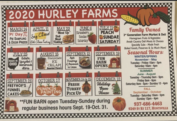202 Hurley Farms Calendar